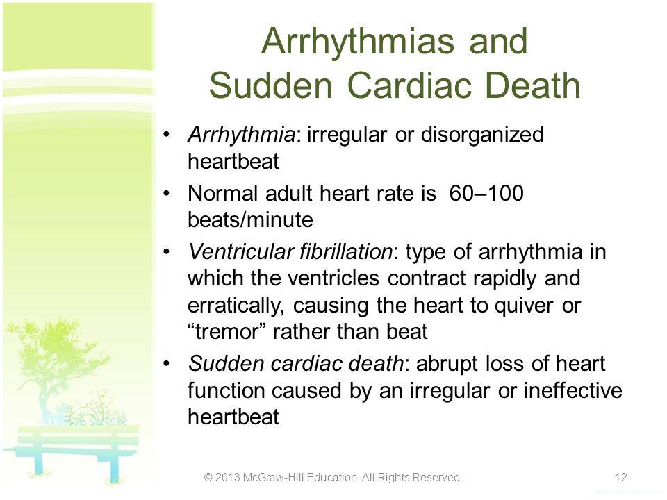 Arrhythmias and Sudden Cardiac Death