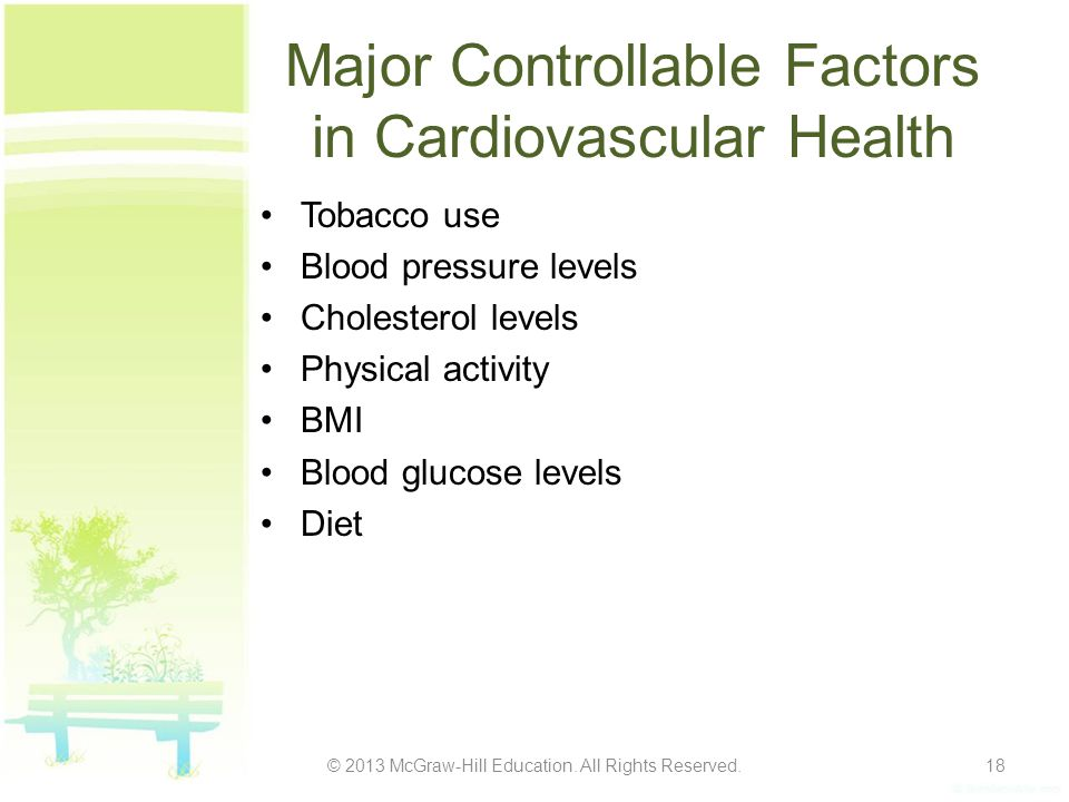 Major Controllable Factors in Cardiovascular Health