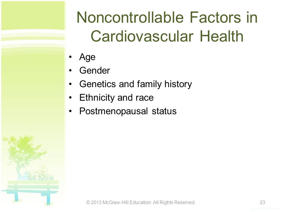 Noncontrollable Factors in Cardiovascular Health