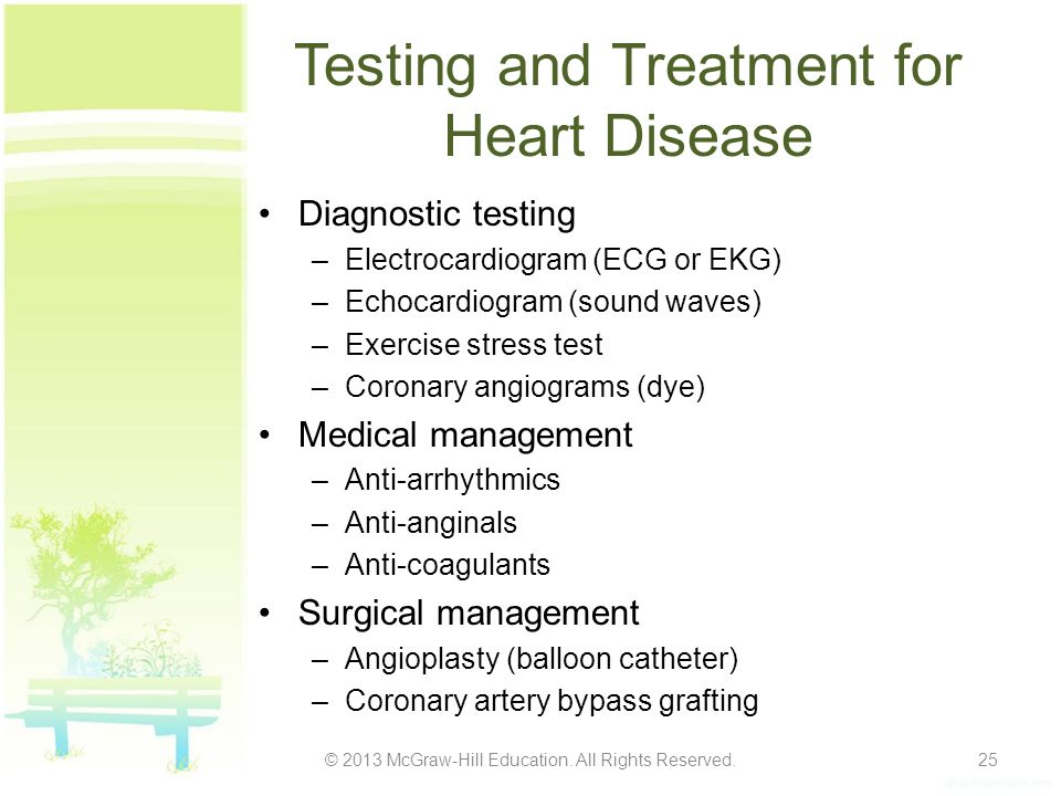 Testing and Treatment for Heart Disease