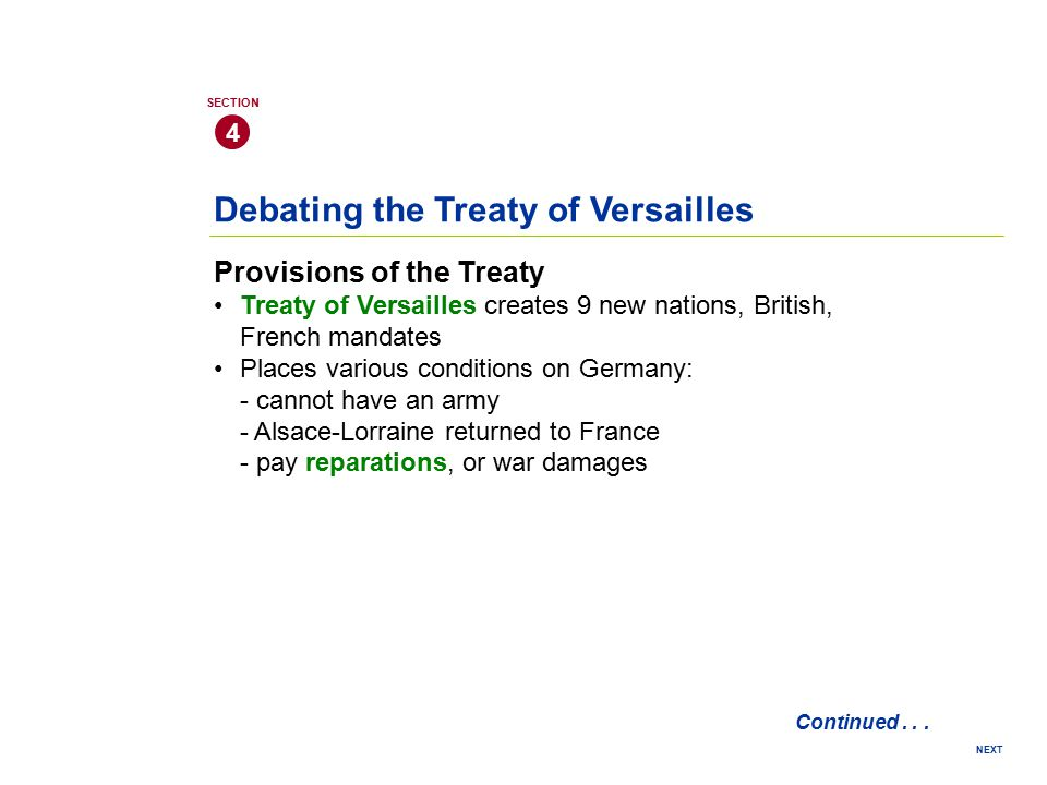 Debating the Treaty of Versailles