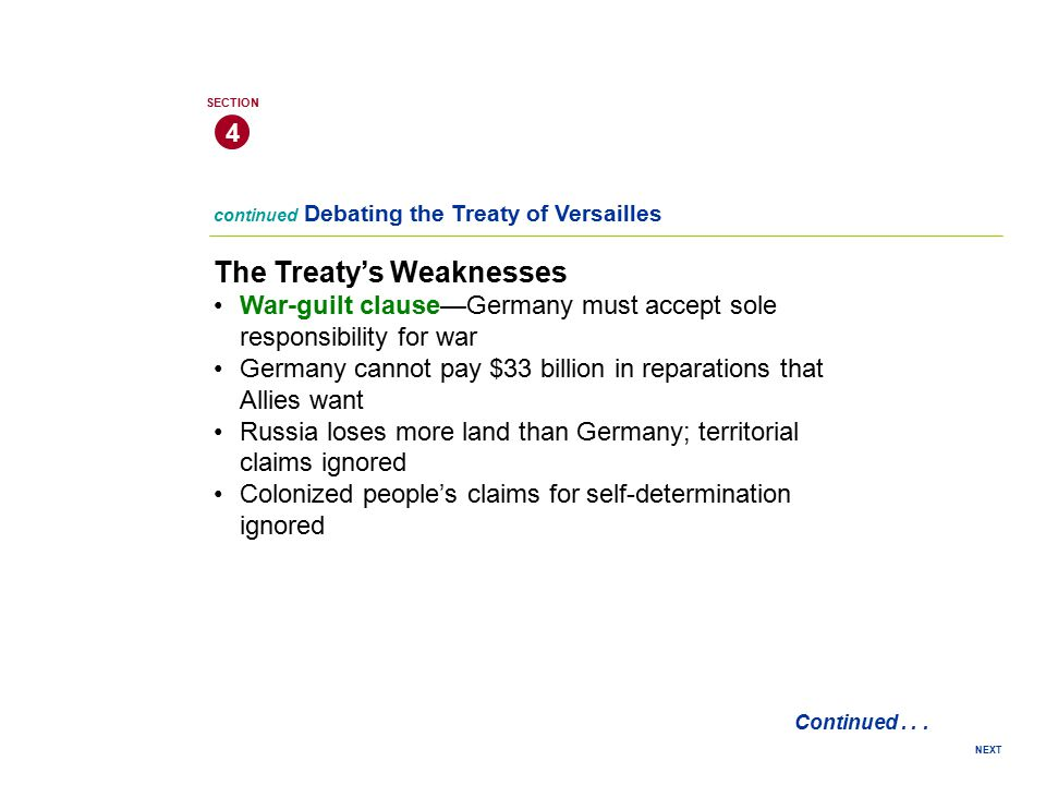 The Treaty's Weaknesses
