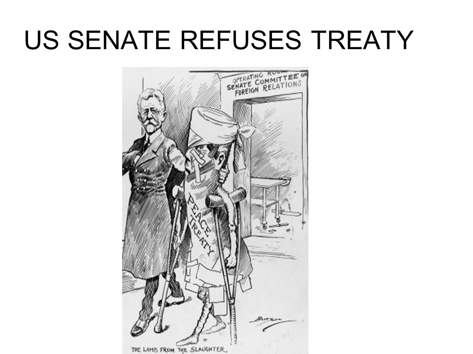US SENATE REFUSES TREATY