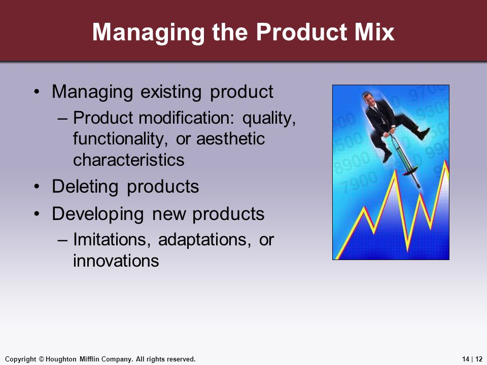 Managing the Product Mix
