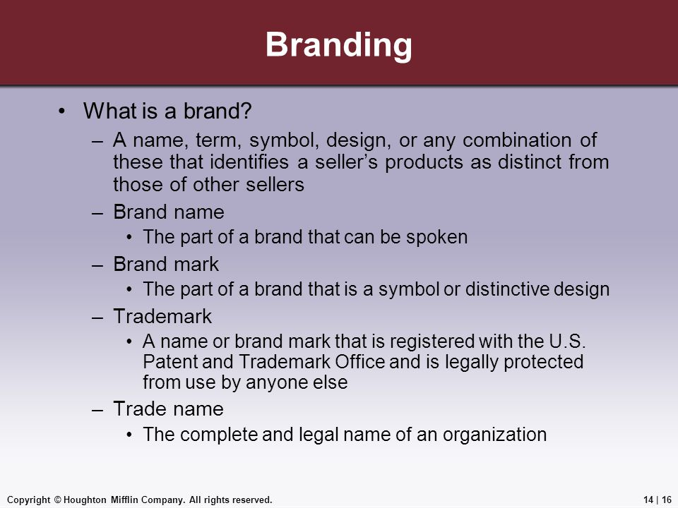 Branding What is a brand
