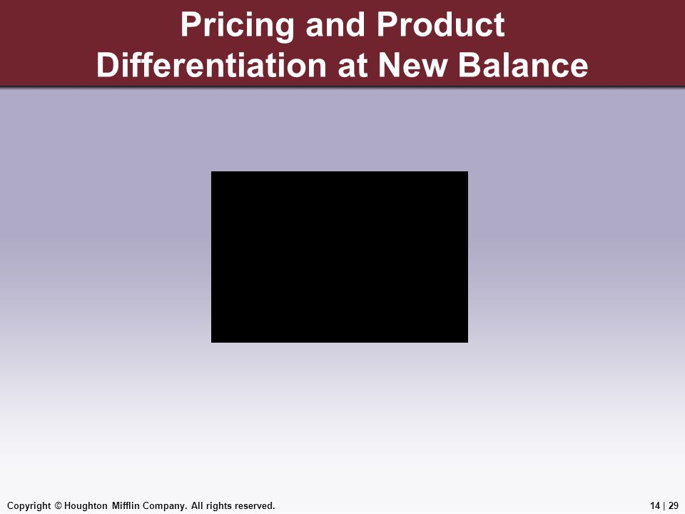 Pricing and Product Differentiation at New Balance