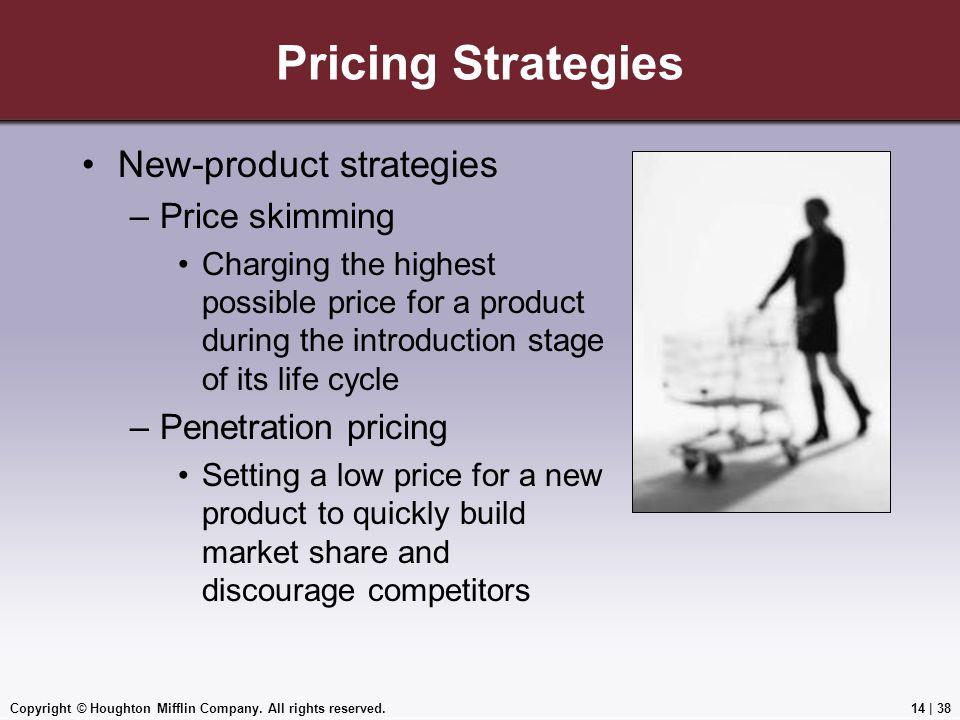 Pricing Strategies New-product strategies Price skimming