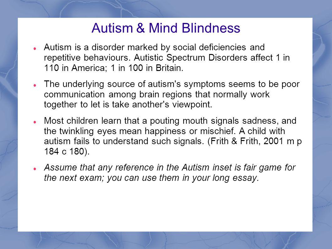 Autism & Mind Blindness
