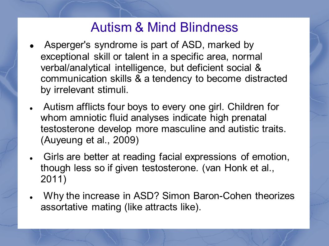 cohen mindblindness essay autism Booktopia has mindblindness, an essay on autism and theory of mind by simon baron-cohen buy a discounted paperback of mindblindness online from australia's leading online bookstore.