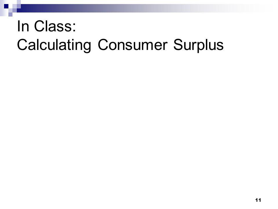 In Class: Calculating Consumer Surplus