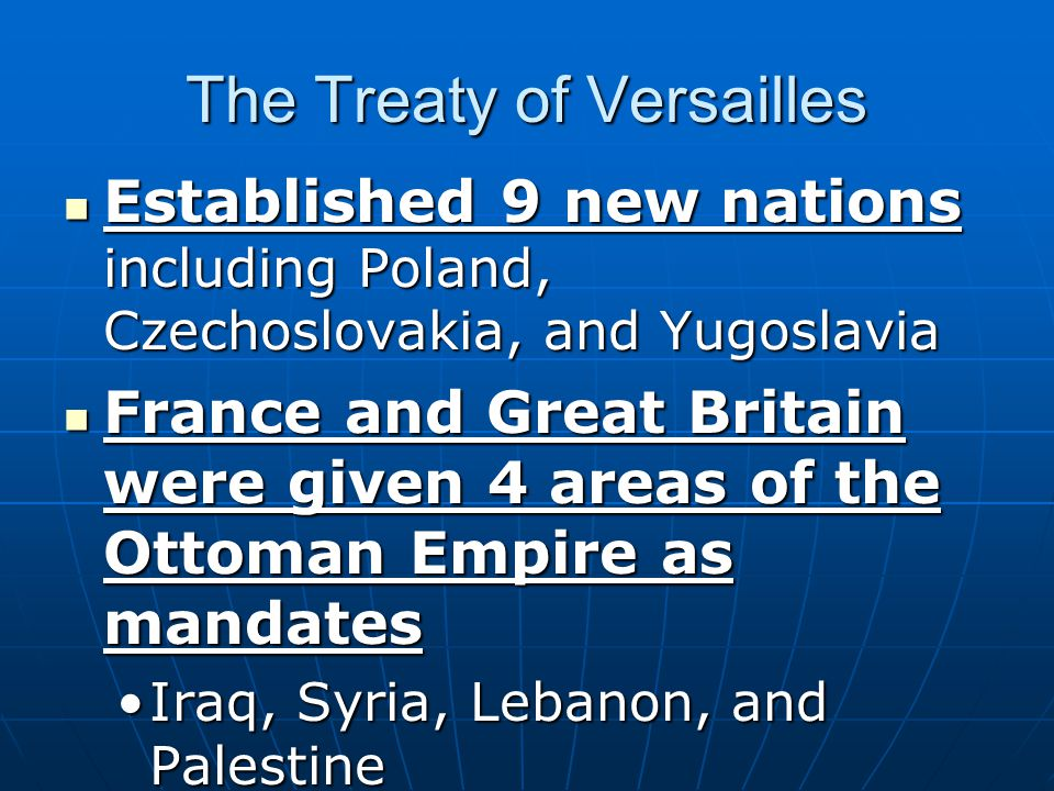 The Treaty of Versailles