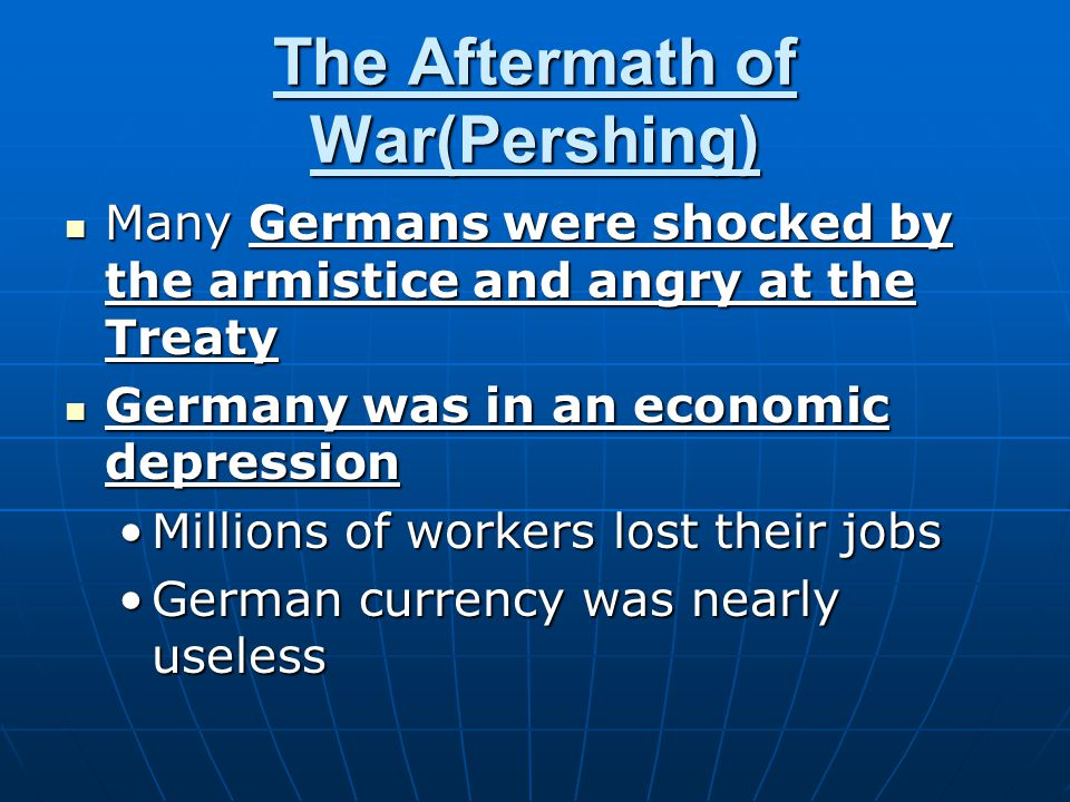 The Aftermath of War(Pershing)