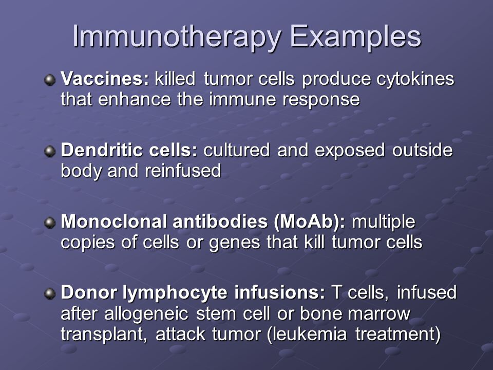 Immunotherapy Examples