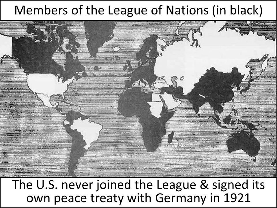 Members of the League of Nations (in black)