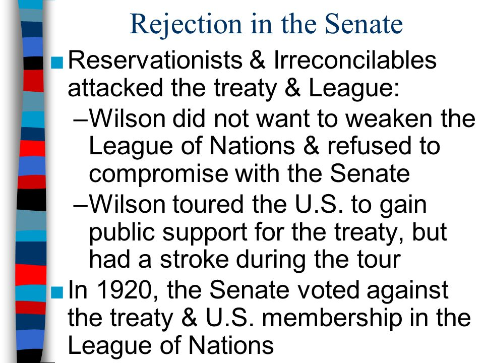 Rejection in the Senate