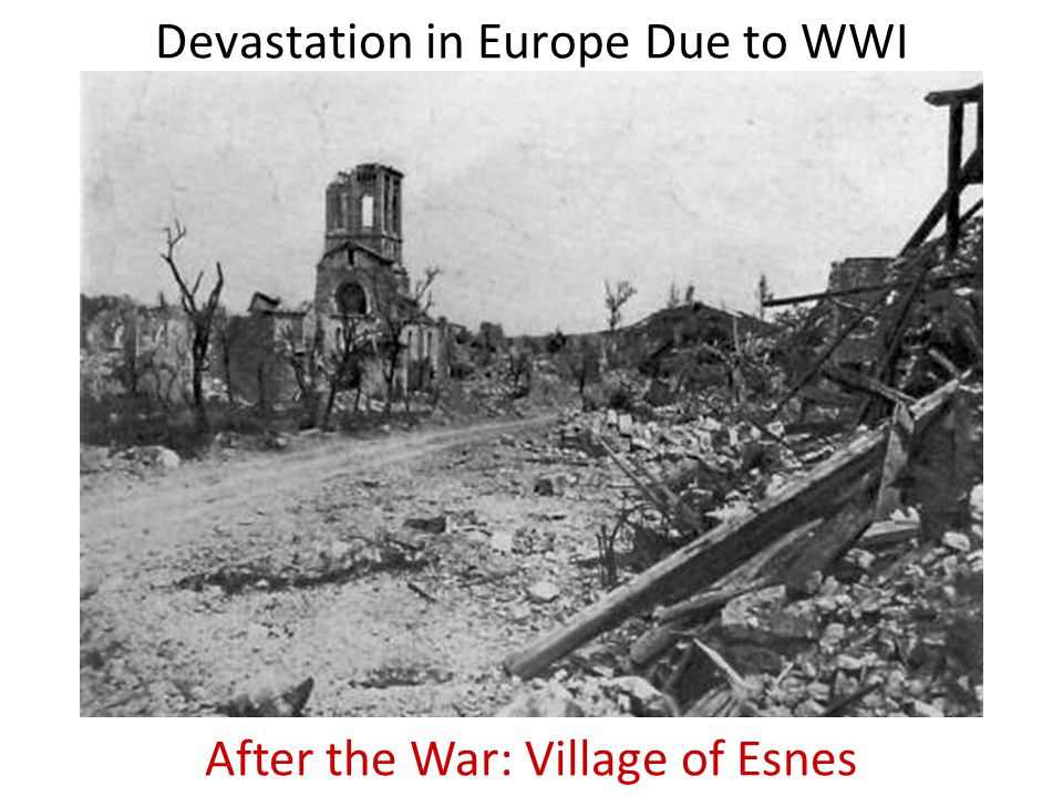 Devastation in Europe Due to WWI