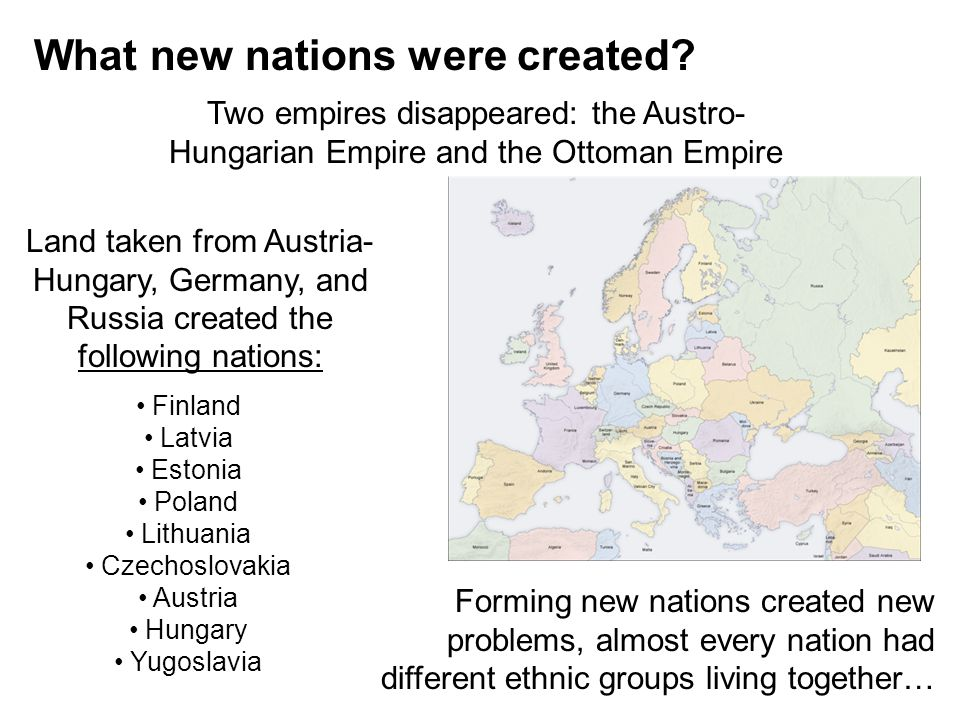 What new nations were created
