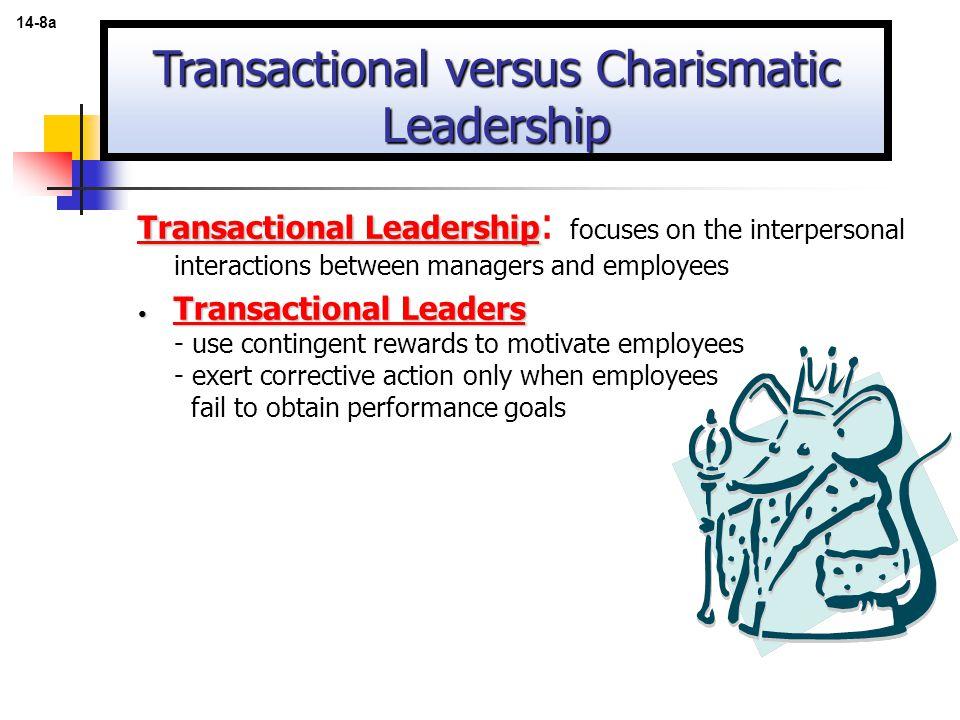 Transactional versus Charismatic Leadership