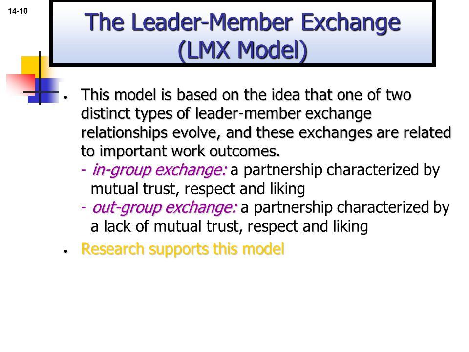 The Leader-Member Exchange (LMX Model)