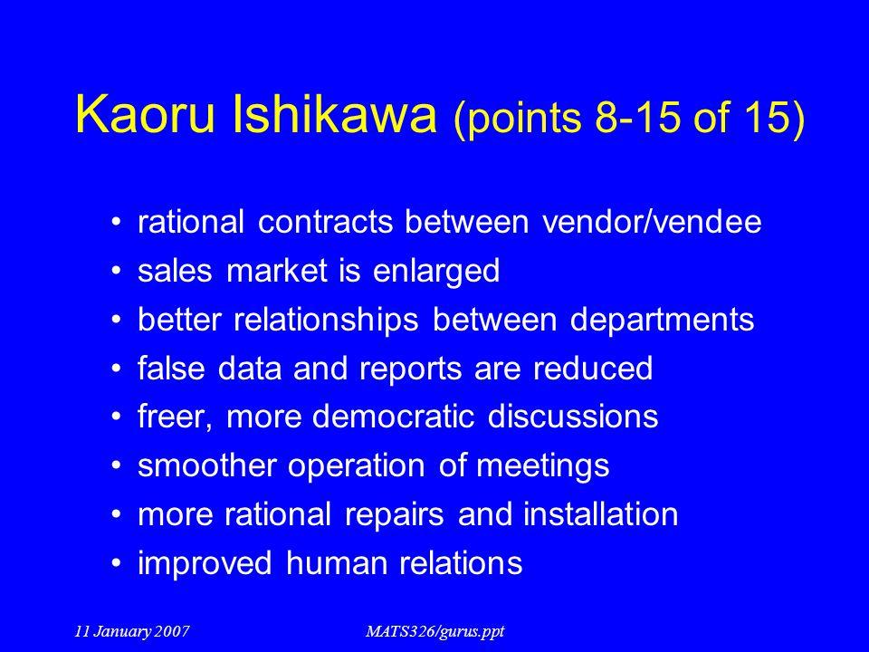 Kaoru Ishikawa (points 8-15 of 15)
