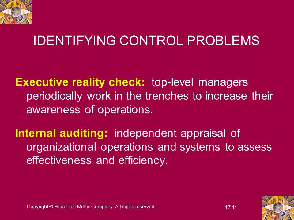 IDENTIFYING CONTROL PROBLEMS