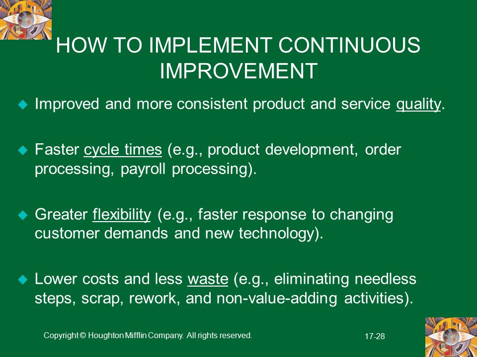 HOW TO IMPLEMENT CONTINUOUS IMPROVEMENT