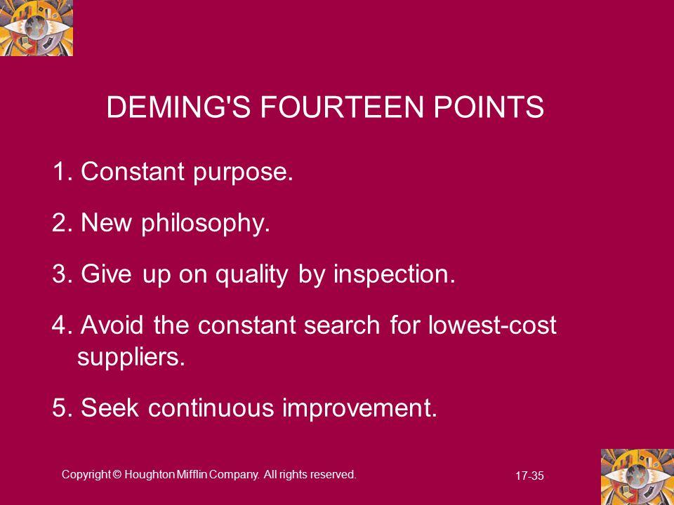 DEMING S FOURTEEN POINTS