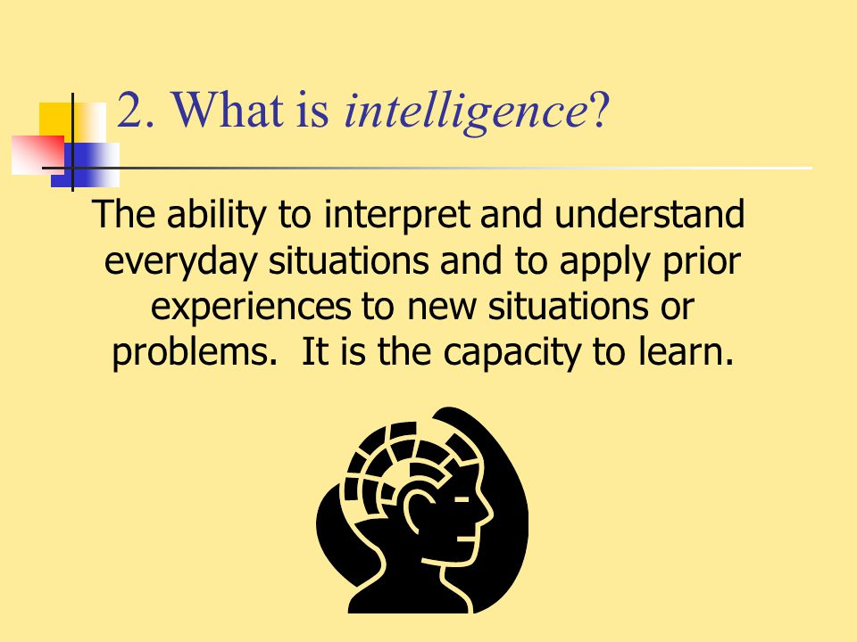 2. What is intelligence