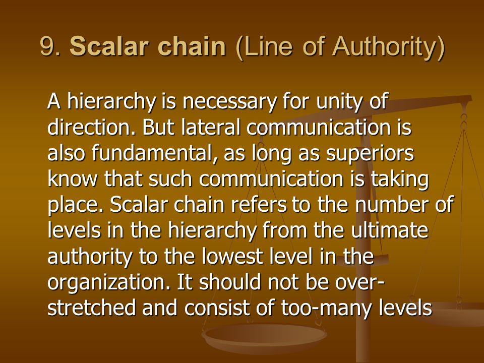 9. Scalar chain (Line of Authority)