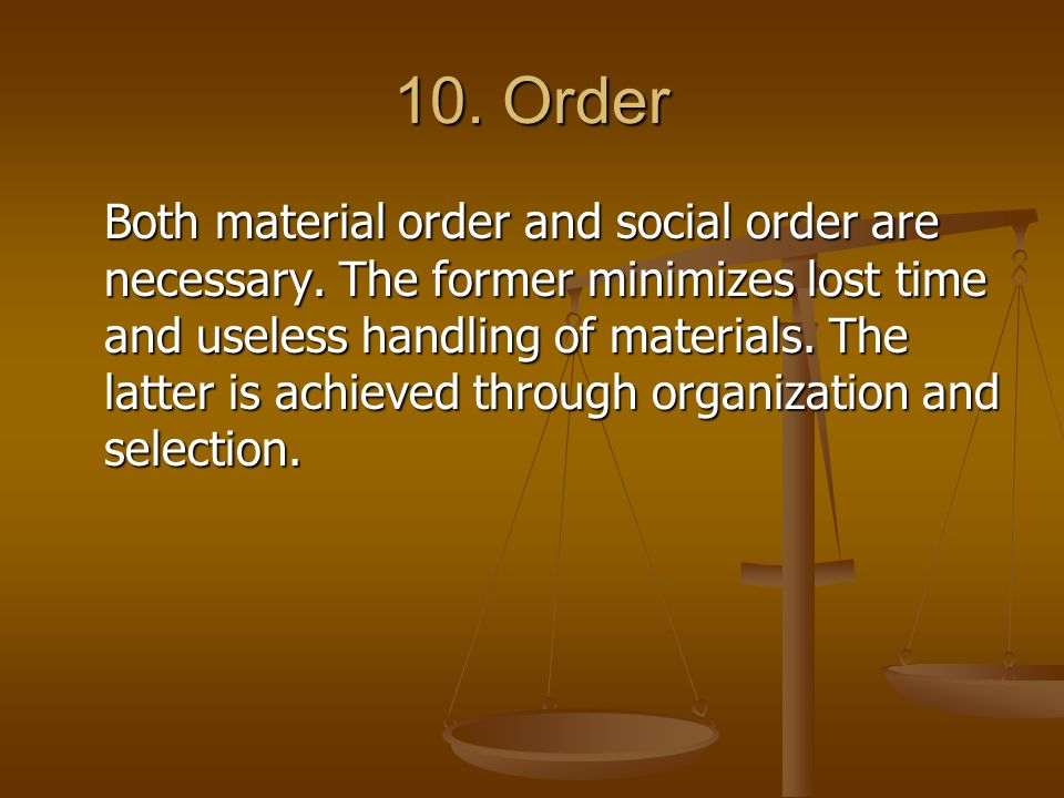 10. Order