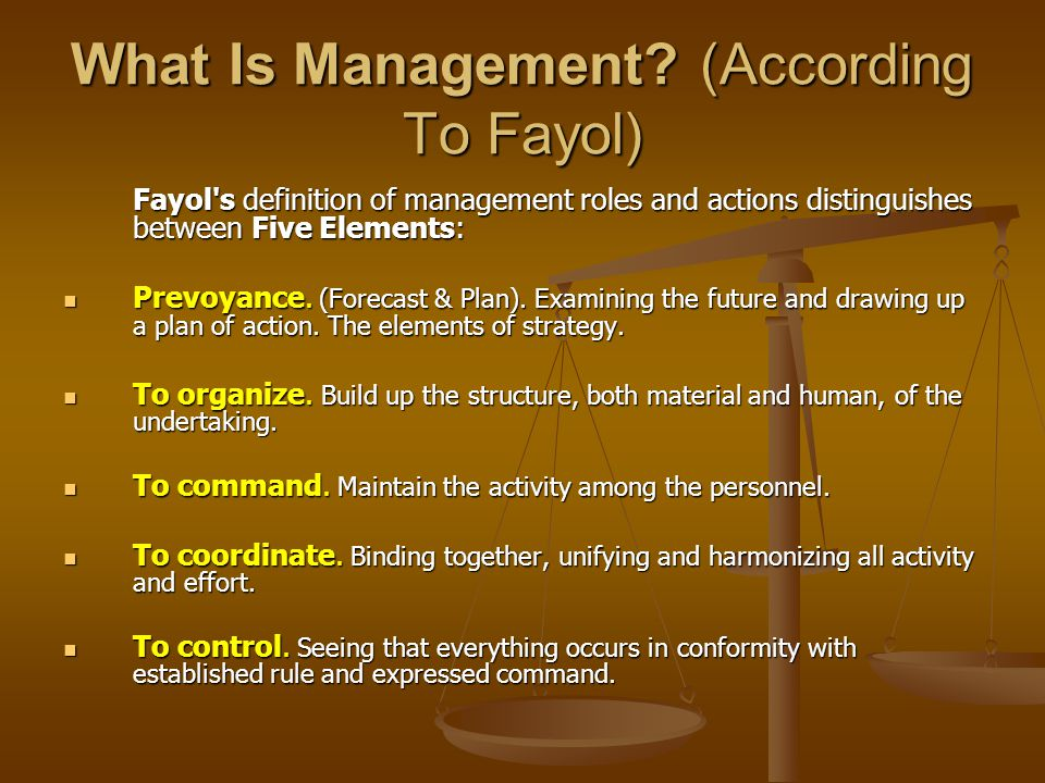 What Is Management (According To Fayol)