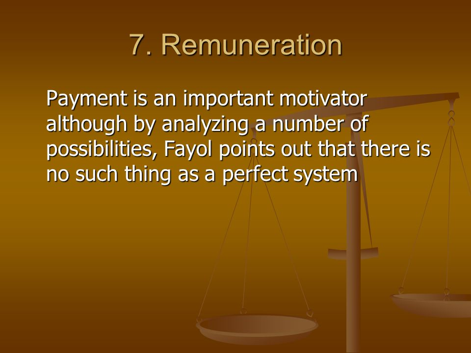 7. Remuneration