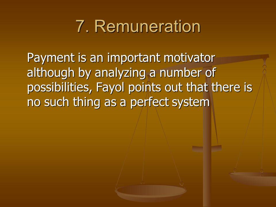 7. Remuneration