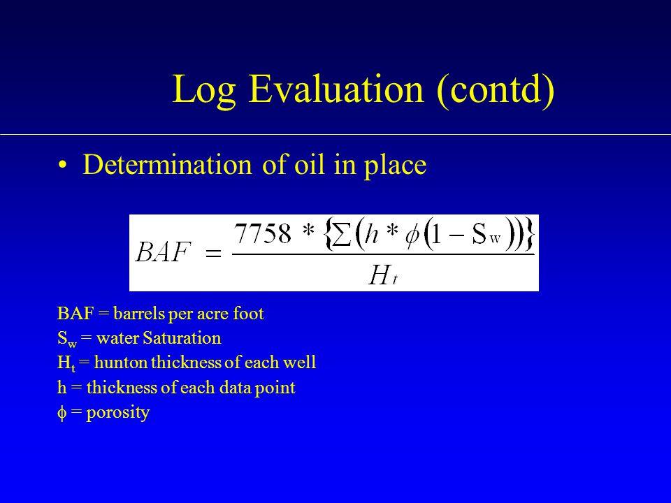 Log Evaluation (contd)