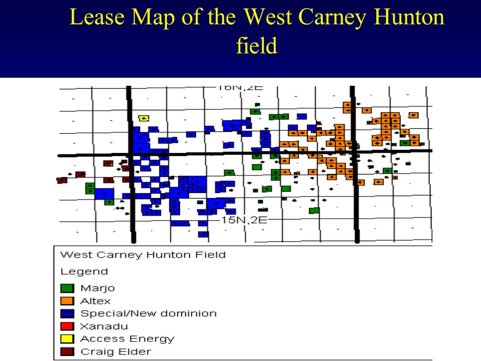 Lease Map of the West Carney Hunton field