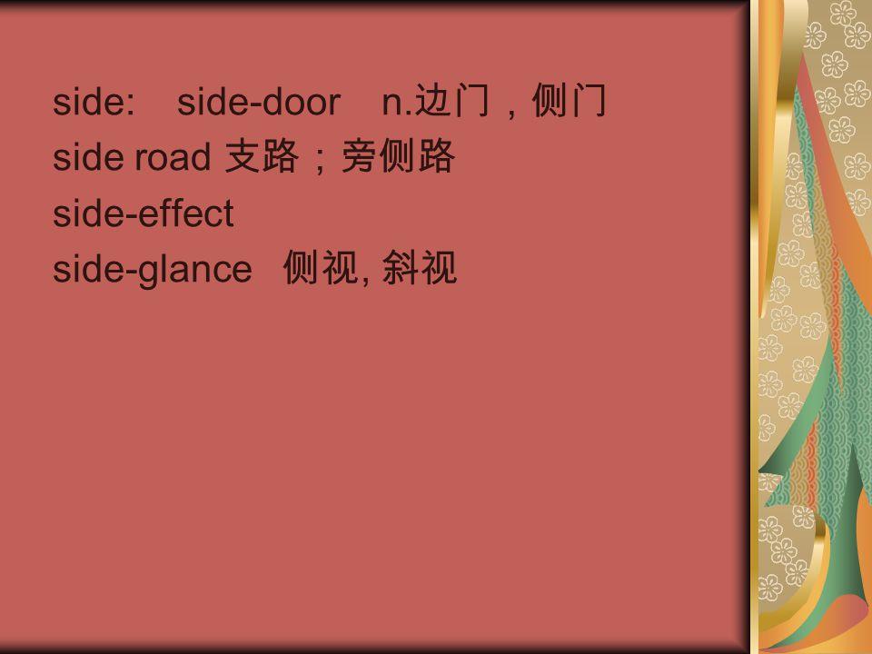 side: side-door n.边门,侧门