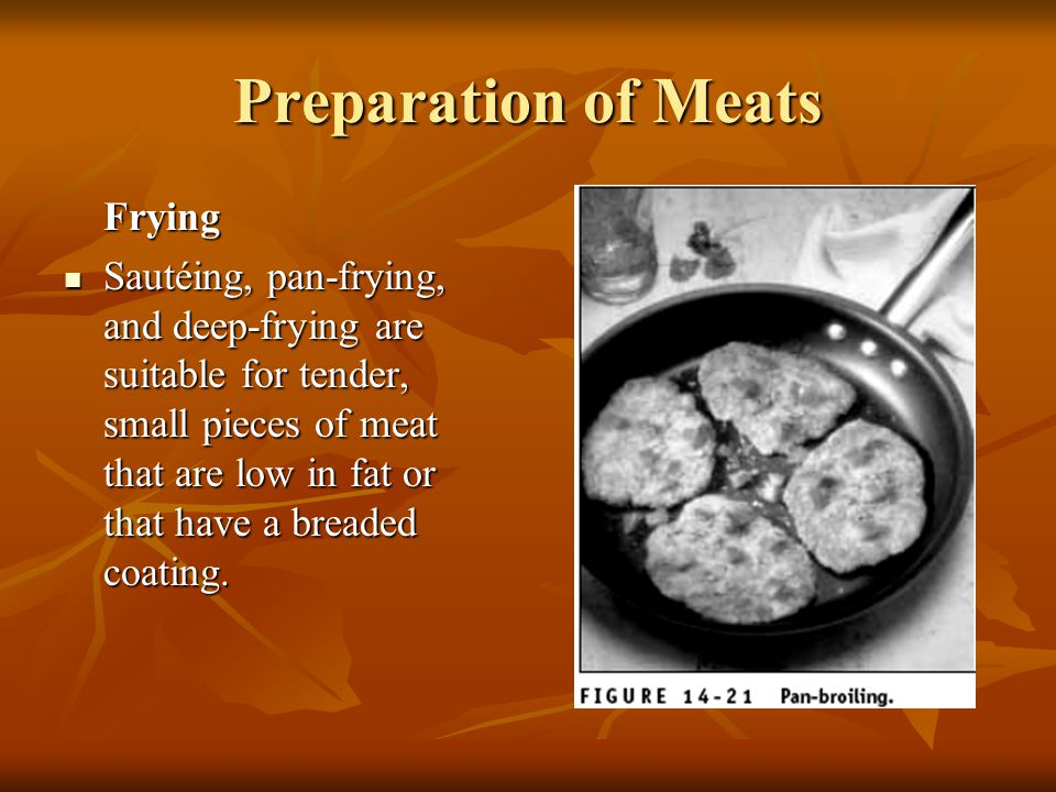 Preparation of Meats Frying