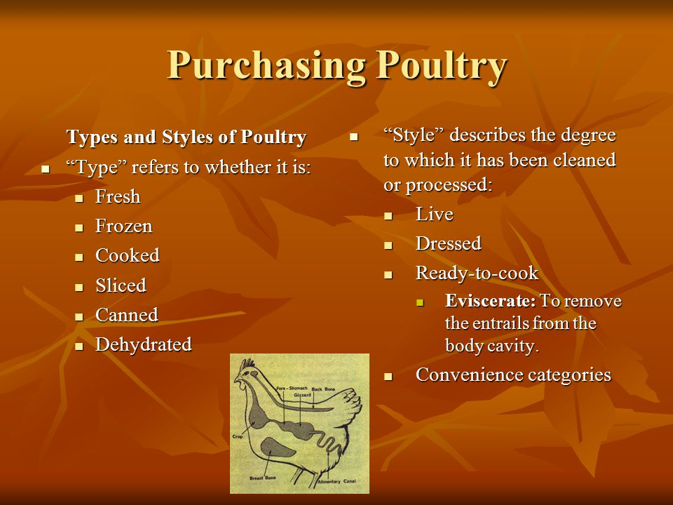 Purchasing Poultry Types and Styles of Poultry