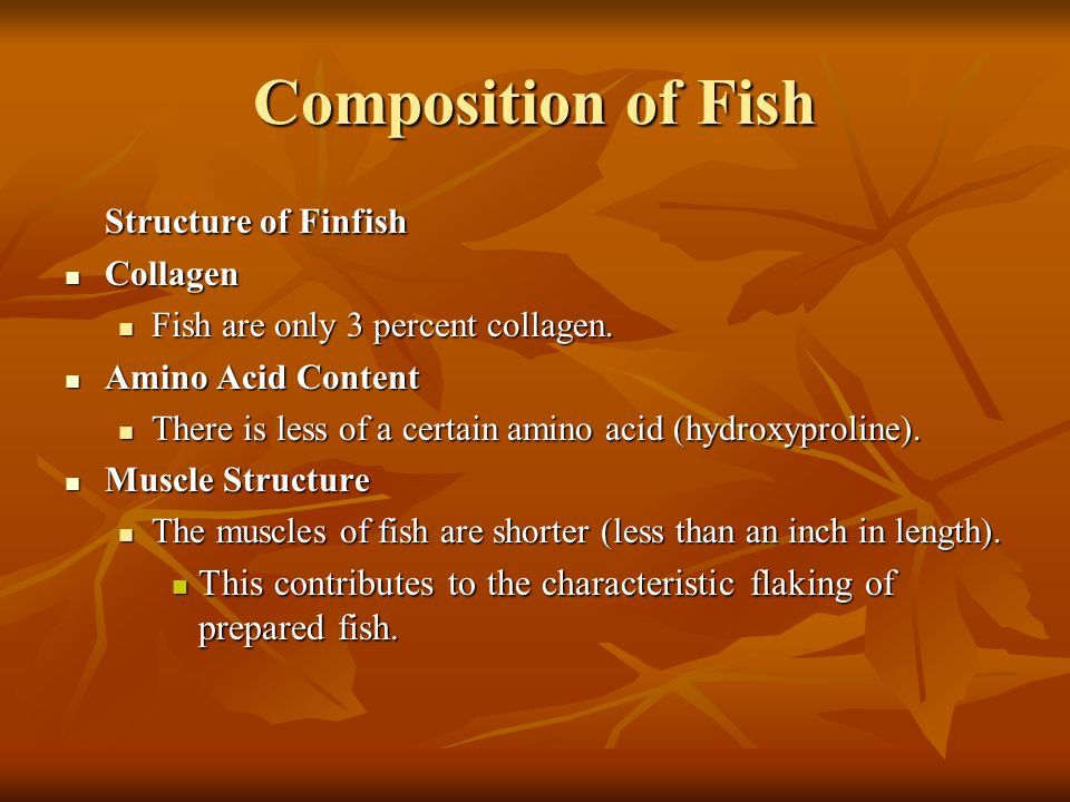 Composition of Fish Structure of Finfish