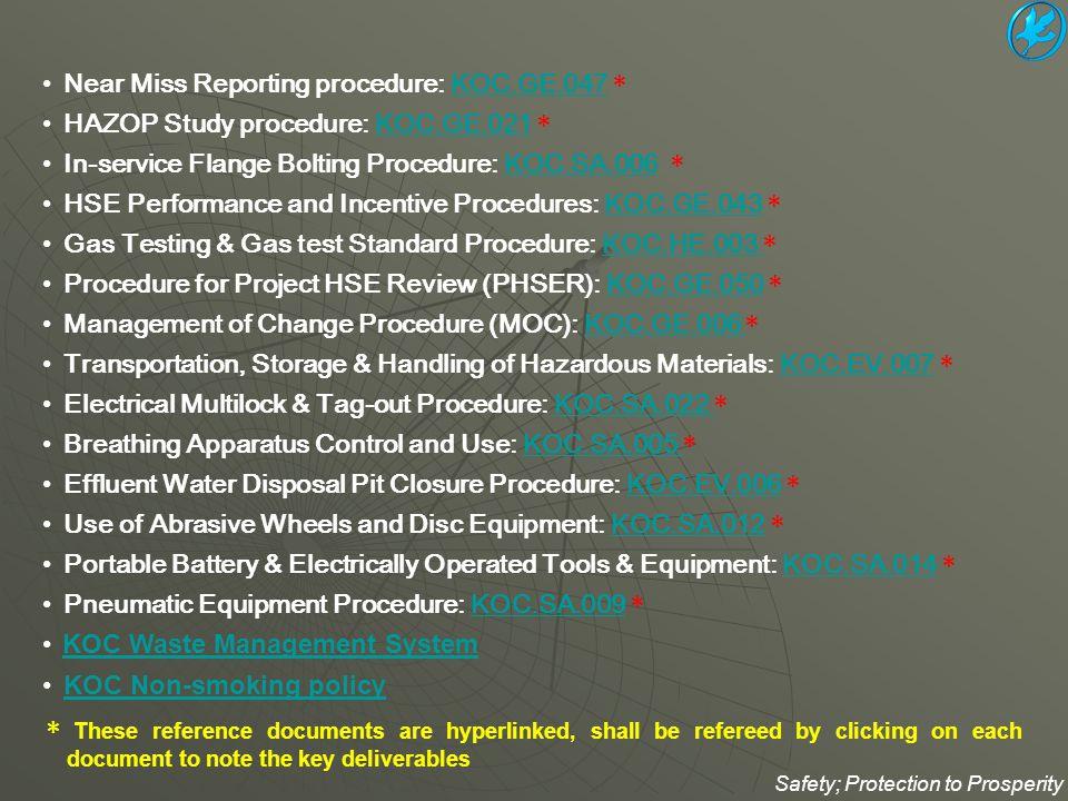Near Miss Reporting procedure: KOC.GE.047 *