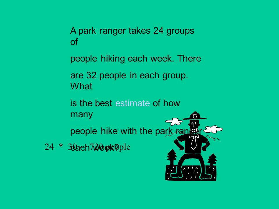 A park ranger takes 24 groups of
