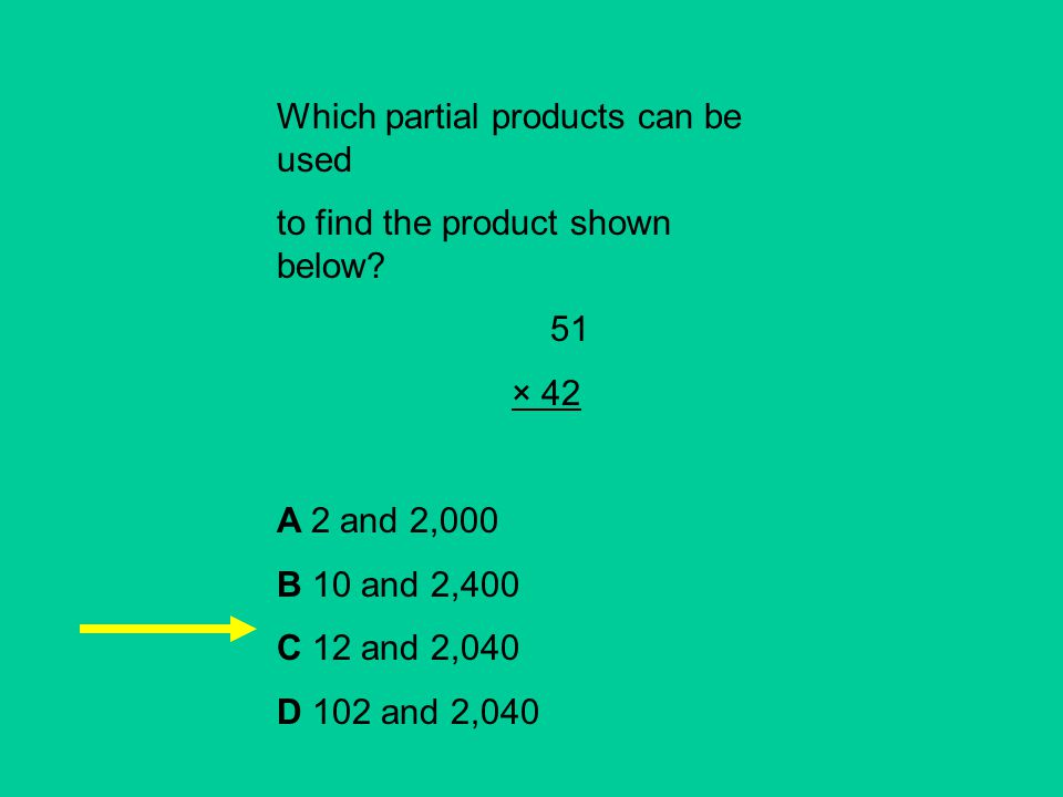 Which partial products can be used