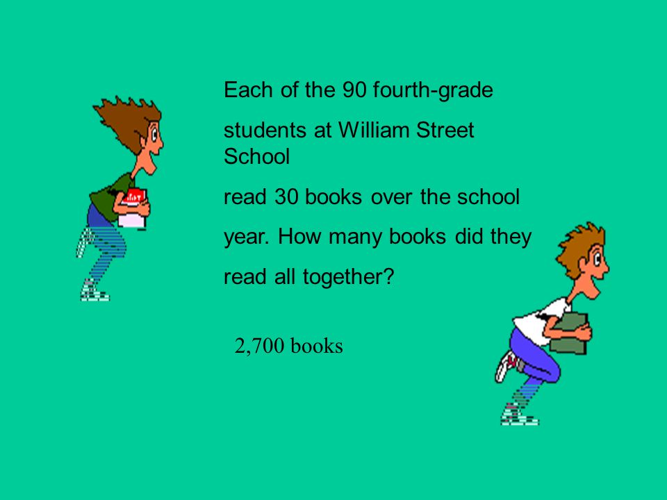 Each of the 90 fourth-grade