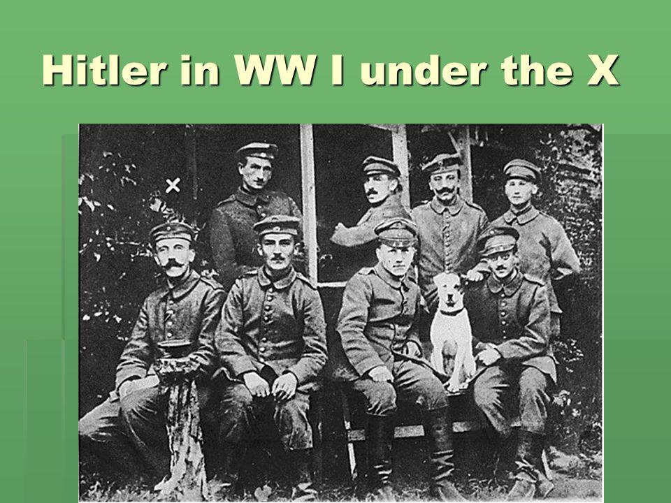 Hitler in WW I under the X