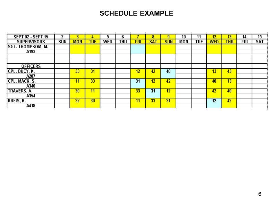 similiar police officers work schedule template keywords. Black Bedroom Furniture Sets. Home Design Ideas