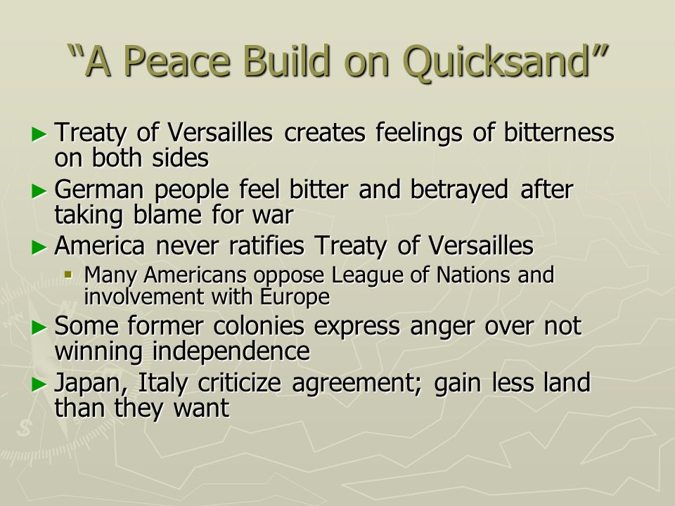 A Peace Build on Quicksand