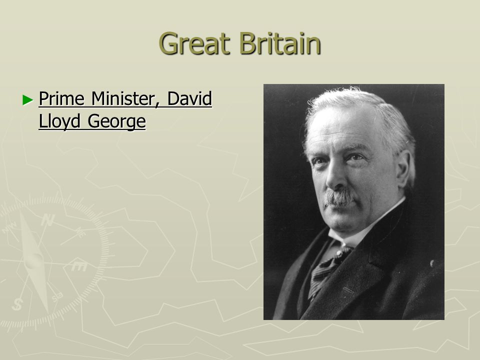 Great Britain Prime Minister, David Lloyd George