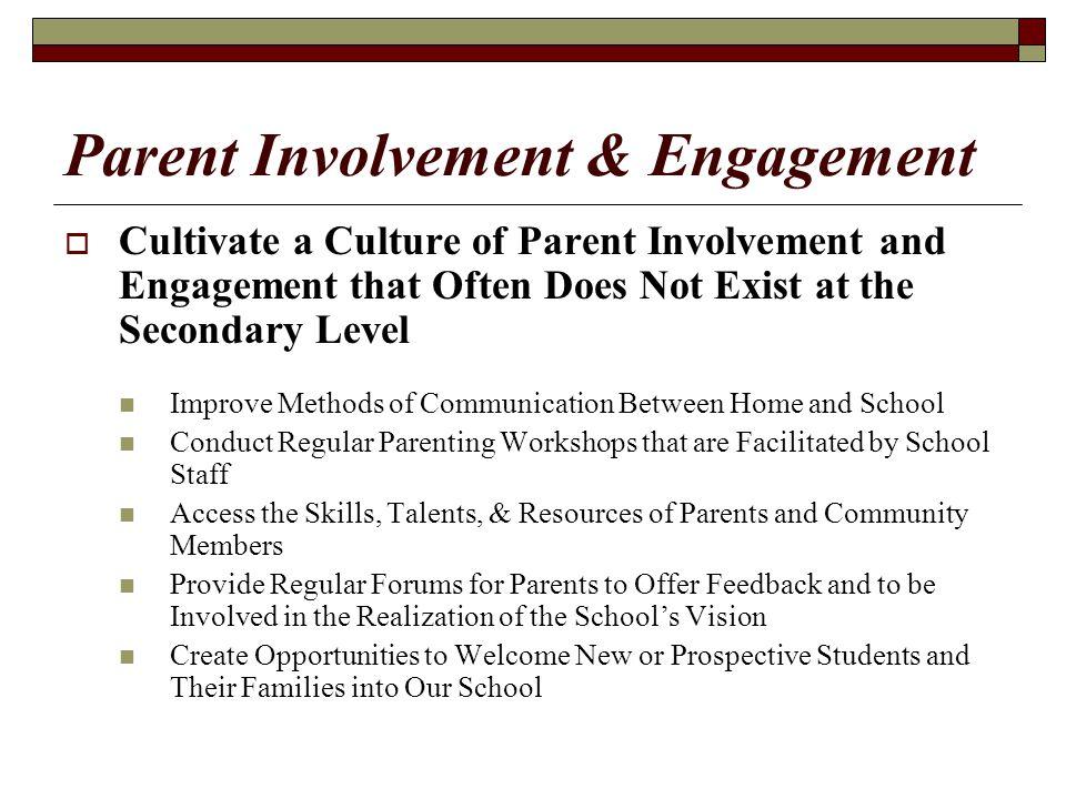 Parent Involvement & Engagement