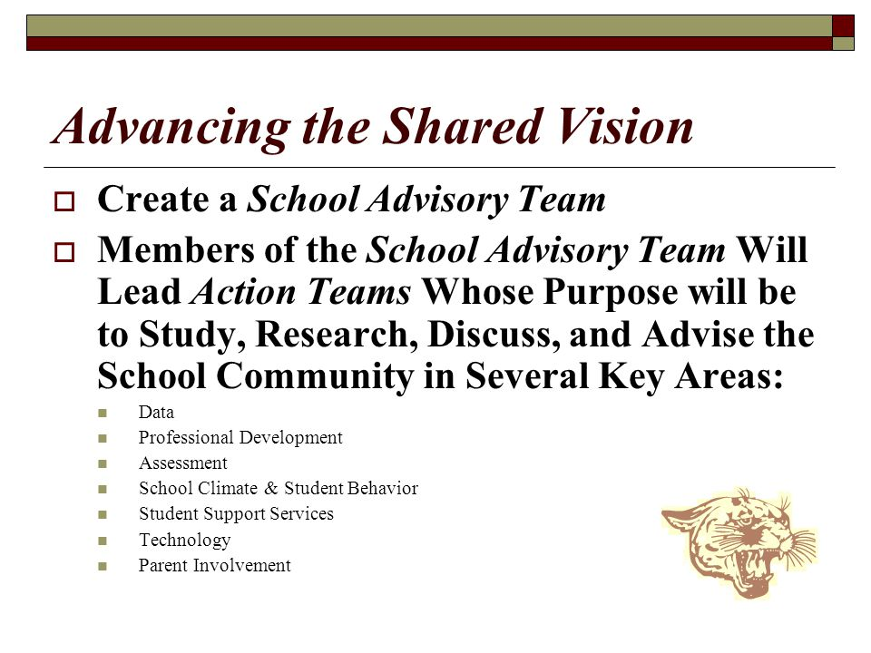 Advancing the Shared Vision