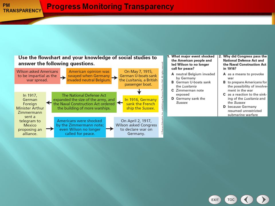 Progress Monitoring Transparency: Section 1